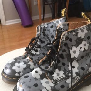 Dr martens shoes grey and white flower doc martens poshmark dr martens shoes grey and white flower doc martens mightylinksfo